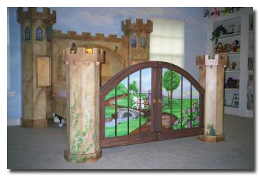 Hand Painted and custom made Castle Bed