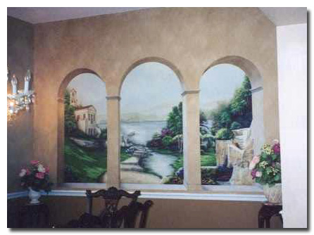 Art Effects' greek window Trompe l'oeil Mural