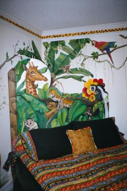 Art Effects' Jungle Bed headboard