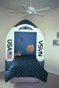 NASA Bed Murals and Hand Painted Furniture