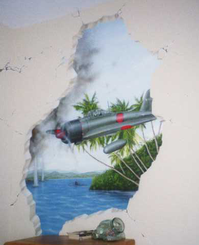 Pearl Harbor Mural Trompe L Oeil And Murals Painted By
