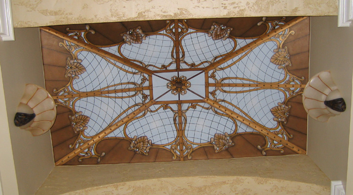 Trompe Lu0027Oeil Stain Glass Ceilings By Art Effects