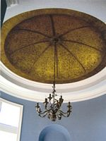 dome with lace venetian plaster