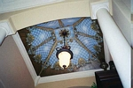 trompe l'oeil stain glass ceiling mural