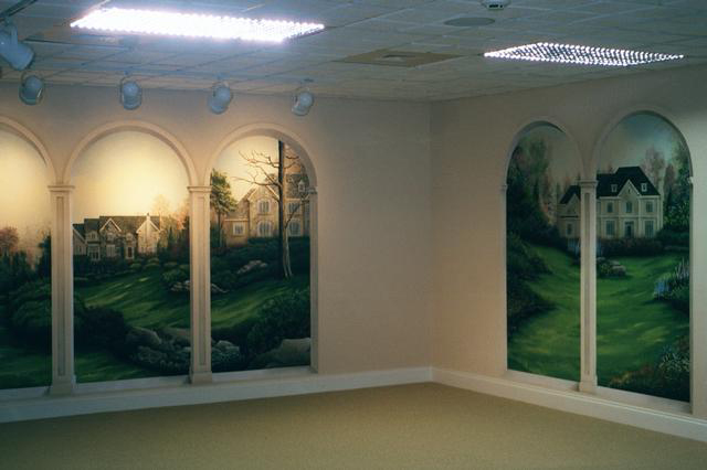 Trompe l 39 oeil arches in wyomissing trompe l 39 oeil and murals painted - Trompe l oeil maison ...