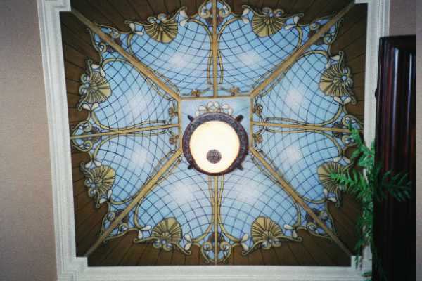 Trompe l\'oeil Stain Glass Ceiling Murals...Painted Stain Glass ...
