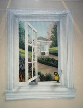 trompe l 39 oeil windows trompe l 39 oeil and murals painted. Black Bedroom Furniture Sets. Home Design Ideas